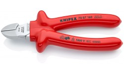 Бокорезы KNIPEX 70 07 160, изолированные VDE 1000V, хромированные,160 мм KN-7007160, KN-7007160, 4429 руб., KN-7007160, KNIPEX, Кусачки KNIPEX