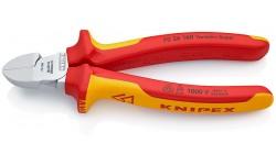 Бокорезы KNIPEX 70 26 160, изолированные VDE 1000V, рез с маленькой фаской, 160 мм KN-7026160, KN-7026160, 3807 руб., KN-7026160, KNIPEX, Кусачки KNIPEX