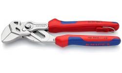 Клещи переставные-гаечный ключ, хромированные180 mm KNIPEX 86 05 180T, KN-8605180T, 7578 руб., KN-8605180T, KNIPEX, Клещи переставные