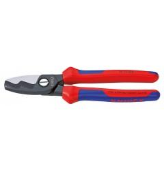 Ножницы для резки кабелей, с двойными режущими кромками 95 12 200, KN-9512200, 5439 руб., KN-9512200, KNIPEX, Ножницы для резки кабеля , проволочных тросов, пластмассы и др.