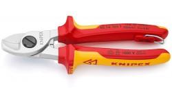 Ножницы для резки кабелей 165 mm KNIPEX 95 16 165T, KN-9516165T, 6027 руб., KN-9516165T, KNIPEX, Ножницы для резки кабеля , проволочных тросов, пластмассы и др.