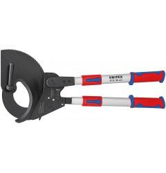 Ножницы для резки кабелей (по принципу трещотки, с выдвижными рукоятками) 95 32 100, KN-9532100, 83713 руб., KN-9532100, KNIPEX,  Ножницы для резки кабеля , проволочных тросов, пластмассы и др.