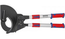 Ножницы для резки кабелей (по принципу трещотки, с выдвижными рукоятками) 95 32 100, KN-9532100, 99957 руб., KN-9532100, KNIPEX, Ножницы для резки кабеля , проволочных тросов, пластмассы и др.