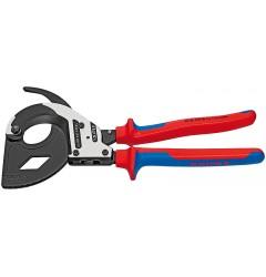Ножницы для резки кабелей (по принципу трещоточного ключа, 3 «передачи») 95 32 320, KN-9532320, 37754 руб., KN-9532320, KNIPEX, Ножницы для резки кабеля , проволочных тросов, пластмассы и др.