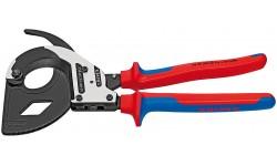 Ножницы для резки кабелей (по принципу трещоточного ключа, 3 «передачи») 95 32 320, KN-9532320, 40451 руб., KN-9532320, KNIPEX, Ножницы для резки кабеля , проволочных тросов, пластмассы и др.