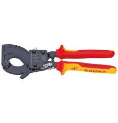 Резак для кабелей 95 36 250, KN-9536250, 23012 руб., KN-9536250, KNIPEX,  Ножницы для резки кабеля , проволочных тросов, пластмассы и др.