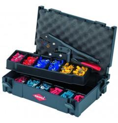 Набор кабельных наконечников с инструментом для опрессовки 97 90 00, KN-979000, 21205 руб., KN-979000, KNIPEX, Наборы инструментов и комплектующих