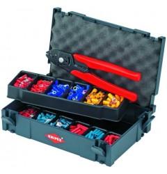 Набор кабельных наконечников с инструментом для опрессовки 97 90 01, KN-979001, 0 руб., KN-979001, KNIPEX, Наборы инструментов и комплектующих