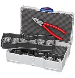 Набор контактных гильз с инструментом для опрессовки 97 90 05, KN-979005, 12512 руб., KN-979005, KNIPEX, Наборы инструментов и комплектующих