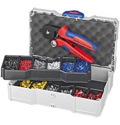 Набор контактных гильз с инструментом для опрессовки 97 90 09, KN-979009, 27528 руб., KN-979009, KNIPEX, Наборы инструментов и комплектующих
