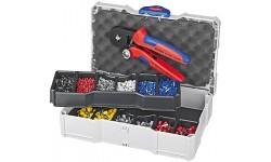 Набор контактных гильз с инструментом для опрессовки 97 90 09, KN-979009, 33979 руб., KN-979009, KNIPEX, Наборы инструментов и комплектующих