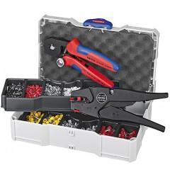 Набор контактных гильз с инструментом для опрессовки 97 90 10, KN-979010, 37240 руб., KN-979010, KNIPEX, Наборы инструментов и комплектующих