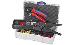 Набор контактных гильз с инструментом для опрессовки 97 90 10, KN-979010, 45969 руб., KN-979010, KNIPEX, Наборы инструментов и комплектующих