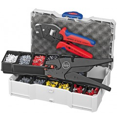Набор контактных гильз с инструментом для опрессовки 97 90 12, KN-979012, 37537 руб., KN-979012, KNIPEX, Наборы инструментов и комплектующих