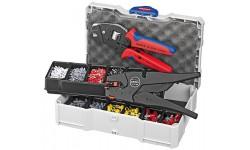 Набор контактных гильз с инструментом для опрессовки 97 90 12, KN-979012, 46336 руб., KN-979012, KNIPEX, Наборы инструментов и комплектующих
