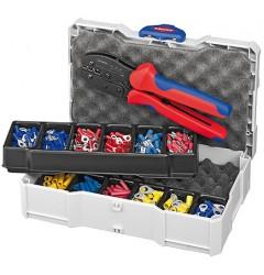 Набор кабельных наконечников с инструментом для опрессовки 97 90 21, KN-979021, 24081 руб., KN-979021, KNIPEX, Наборы инструментов и комплектующих