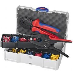 Набор кабельных наконечников с инструментом для опрессовки 97 90 22, KN-979022, 36073 руб., KN-979022, KNIPEX, Наборы инструментов и комплектующих