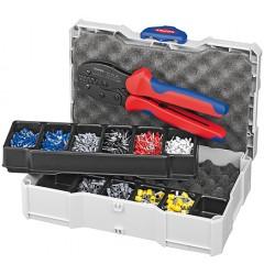 Набор контактных гильз с инструментом для опрессовки 97 90 23, KN-979023, 22370 руб., KN-979023, KNIPEX, Наборы инструментов и комплектующих
