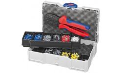 Набор контактных гильз с инструментом для опрессовки 97 90 23, KN-979023, 27151 руб., KN-979023, KNIPEX, Наборы инструментов и комплектующих