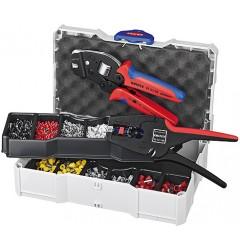 Набор контактных гильз с инструментом для опрессовки 97 90 24, KN-979024, 39711 руб., KN-979024, KNIPEX, Наборы инструментов и комплектующих