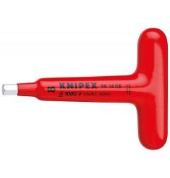 Отвертка, для винтов с внутренним шестигранником, с Т-образной ручкой 98 14 05, KN-981405, 3904 руб., KN-981405, KNIPEX,  Электробезопасный инструмент 1000в