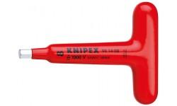 Отвертка, для винтов с внутренним шестигранником, с Т-образной ручкой 98 14 05, KN-981405, 4286 руб., KN-981405, KNIPEX, Электробезопасный инструмент 1000в