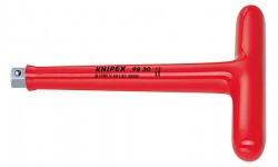 """Т-образная ручка с внешним квадратом 3/8"""" 200 mm KNIPEX 98 30, KN-9830, 6762 руб., KN-9830, KNIPEX, Электробезопасный инструмент 1000в"""