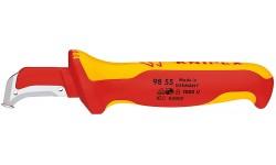 Нож для удаления оболочек кабелей 98 55, KN-9855, 4854 руб., KN-9855, KNIPEX, Ножи для удаления изоляции