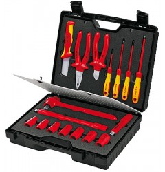 Чемодан компактный, 17предметов;с инструментами электроизолированными 98 99 11, KN-989911, 52713 руб., KN-989911, KNIPEX, Наборы инструментов и комплектующих