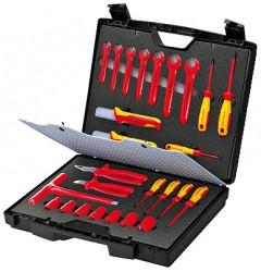 Чемодан стандартный, 26 предметов;с инструментами электроизолированными 98 99 12, KN-989912, 64428 руб., KN-989912, KNIPEX, Наборы инструментов и комплектующих