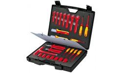 Чемодан стандартный, 26 предметов;с инструментами электроизолированными 98 99 12, KN-989912, 79531 руб., KN-989912, KNIPEX, Наборы инструментов и комплектующих