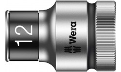 "8790 HMC HF Торцевая головка 12 мм для ключа-трещотки Zyklop c 1/2"" с функцией фиксации WERA 003732, WE-003732, 694 руб., WE-003732, WERA, Новинки WERA"