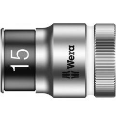 "8790 HMC HF Торцевая головка 15 мм для ключа-трещотки Zyklop c 1/2"" с функцией фиксации WERA 003735, WE-003735, 694 руб., WE-003735, , Новинки WERA"