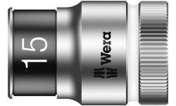 "8790 HMC HF Торцевая головка 15 мм для ключа-трещотки Zyklop c 1/2"" с функцией фиксации WERA 003735, WE-003735, 763 руб., WE-003735, WERA, Новинки WERA"