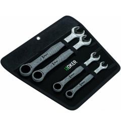 Набор гаечных ключей с кольцевой трещоткой Joker, 4 предмета, WE-020020, 0 руб., WE-020020, WERA, Гаечные Ключи с Трещоткой Joker