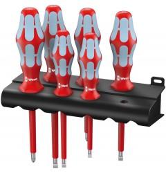 Набор отверток WERA 3165 i/6 VDE 6 шт. нержавеющая сталь + подставка 022745, WE-022745, 4037 руб., WE-022745, WERA, Новинки WERA