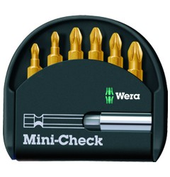 Mini-Check TiN PZ 056287, WE-056287, 1153 руб., WE-056287, WERA,  Наборы бит WERA