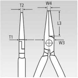 KNIPEX, KN-3221135, Плоскогубцы для регулировки 32 21 135